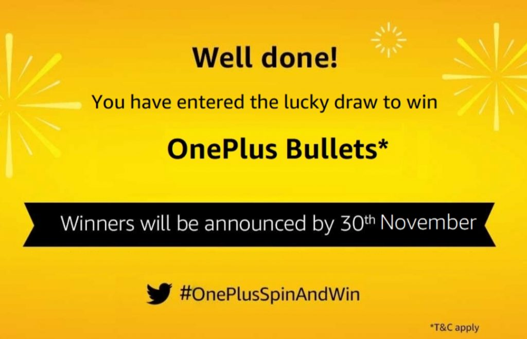 Amazon OnePlus Spin And Win - 12,000+ Winners