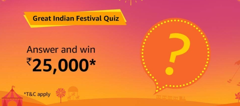 Amazon Great Indian Festival Quiz Answers [Till 25 Oct 2019]