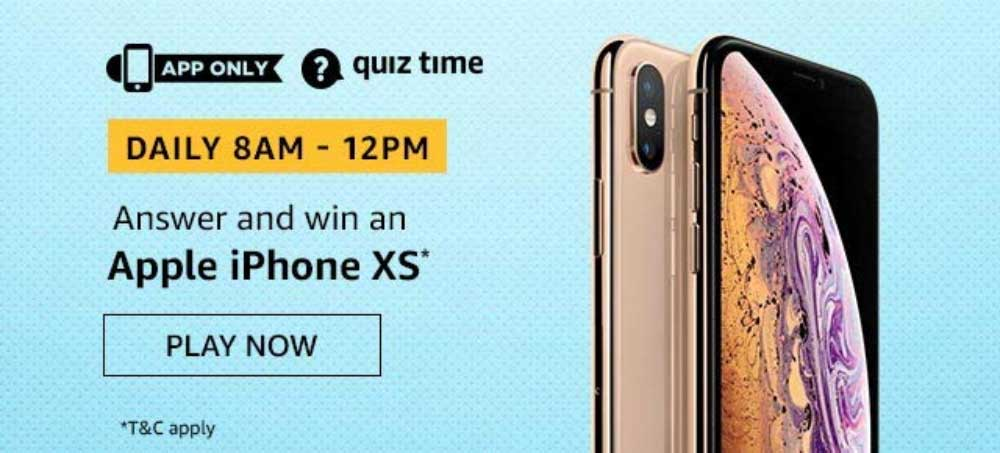 Amazon Daily Quiz Answers [20 Nov 2019] - Win Apple iPhone XS