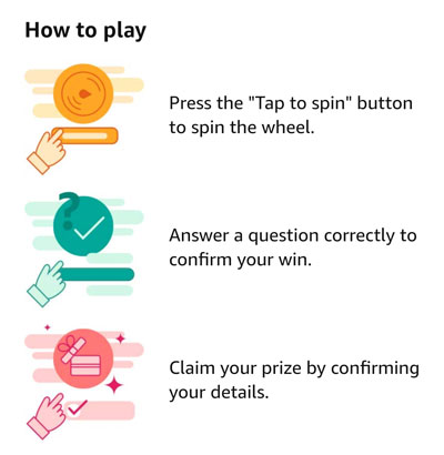How to play Spin and Win
