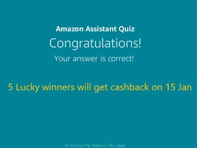 Amazon Assistant Quiz - Final Confirmation.