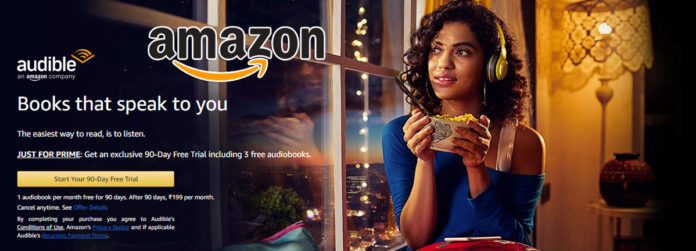 Amazon Audible 90 Day Free Trial Offer