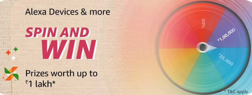 Amazon Great Indian Sale Spin And Win (17-22 Jan 2020) - Alexa Special