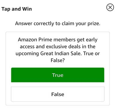 Tap on the correct answer to confirm your claim.