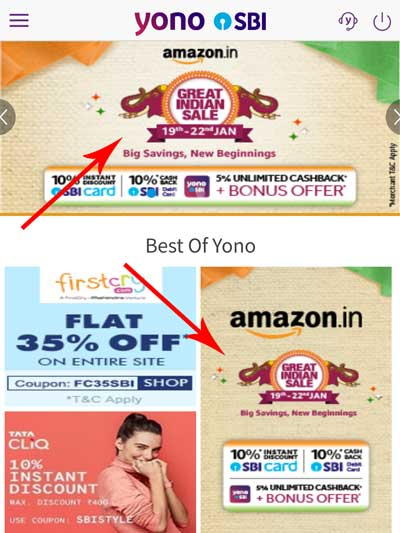 Look for the Amazon Great Indian Sale Banner