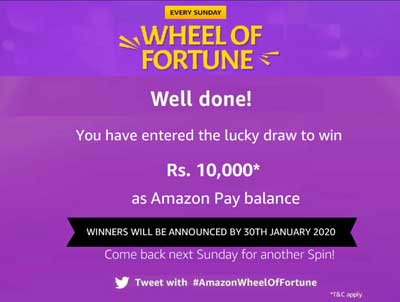 Amazon Wheel Of Fortune Spin And Win