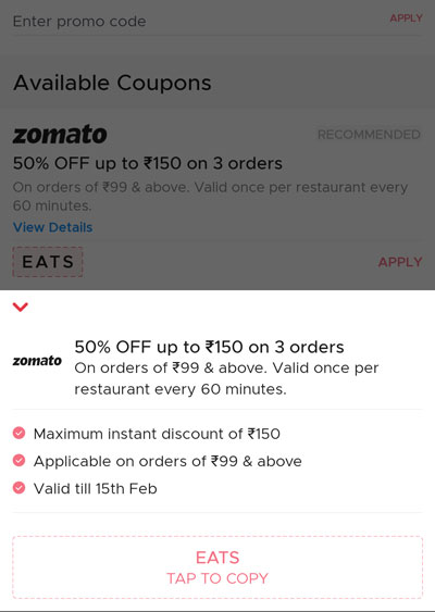 Use coupon code EATS for 50% OFF