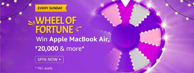 Amazon Wheel Of Fortune Spin And Win - MacBook Air (Sunday Special)