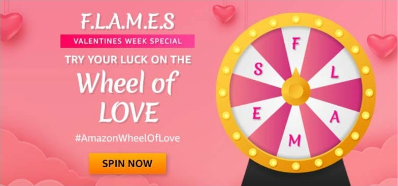 Amazon Wheel Of Love Spin And Win - Valentine's Week Special