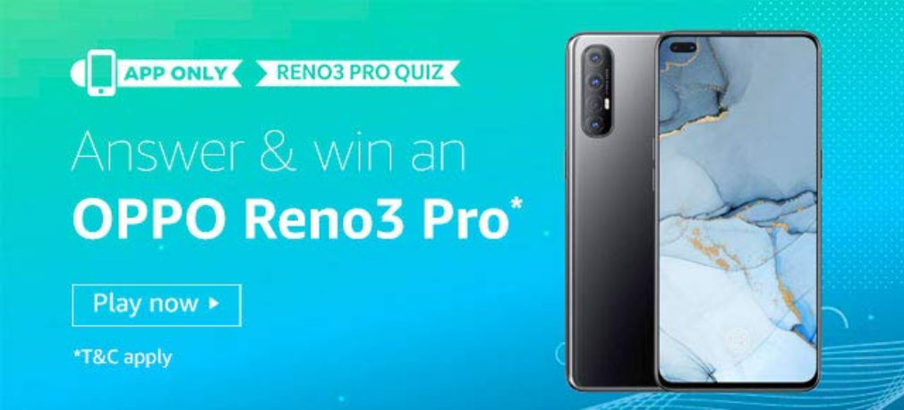 Oppo Reno3 Pro Quiz Answers - 4 Winners