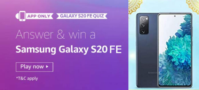Amazon Samsung Galaxy S20 FE Quiz Answers - Win Reward S20 FE