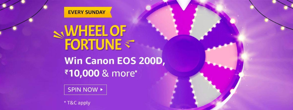 Amazon Wheel Of Fortune Spin And Win - Canon EOS 200D