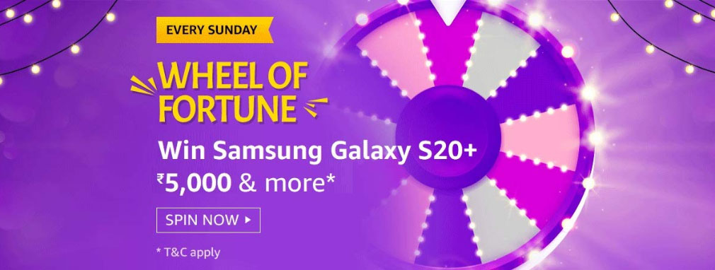 Amazon Wheel Of Fortune Spin And Win - Galaxy S20+