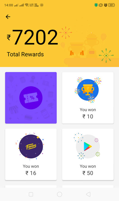 Discovery Plus On-Air Google Pay Ad - Go to your rewards page to see the scratch card and its details
