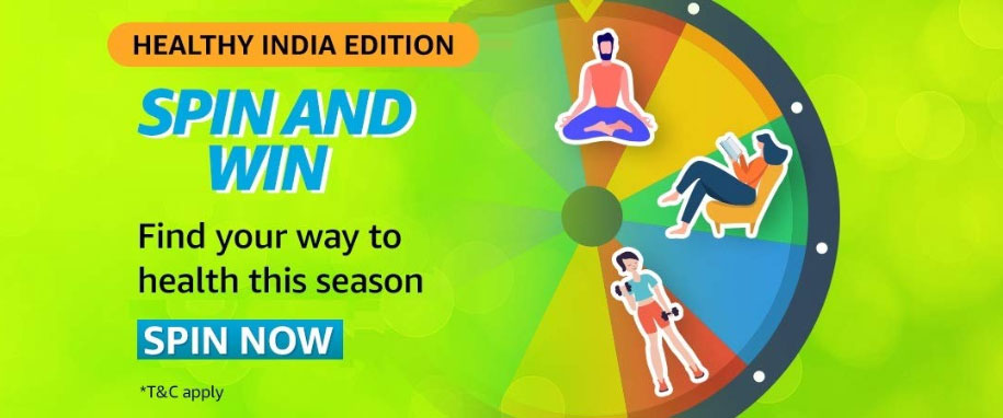 Amazon Healthy India Spin And Win