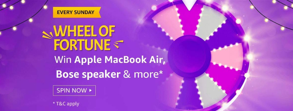 Amazon Wheel Of Fortune Spin And Win - MacBook Air
