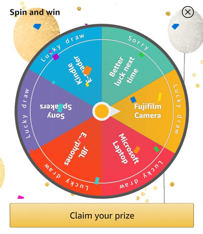 Claim your Prize like this Fujifilm Camera or other