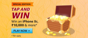 Amazon Tap And Win - Special Edition - iPhone XR