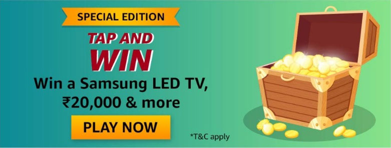 Amazon Tap And Win - Samsung LED TV