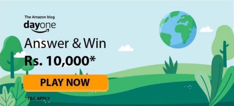 Day One Quiz Answers (Amazon Blog Quiz) - Win Rs.10,000
