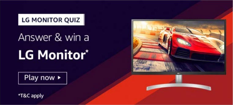 Amazon LG Monitor Quiz Answers - Win LG Monitor
