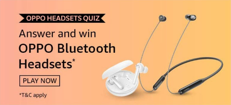 Amazon OPPO Headsets Quiz Answers - Win Bluetooth Headsets