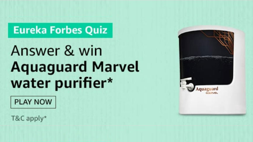 Amazon Eureka Forbes Quiz Answers - Win Aquaguard Marvel Water Purifier