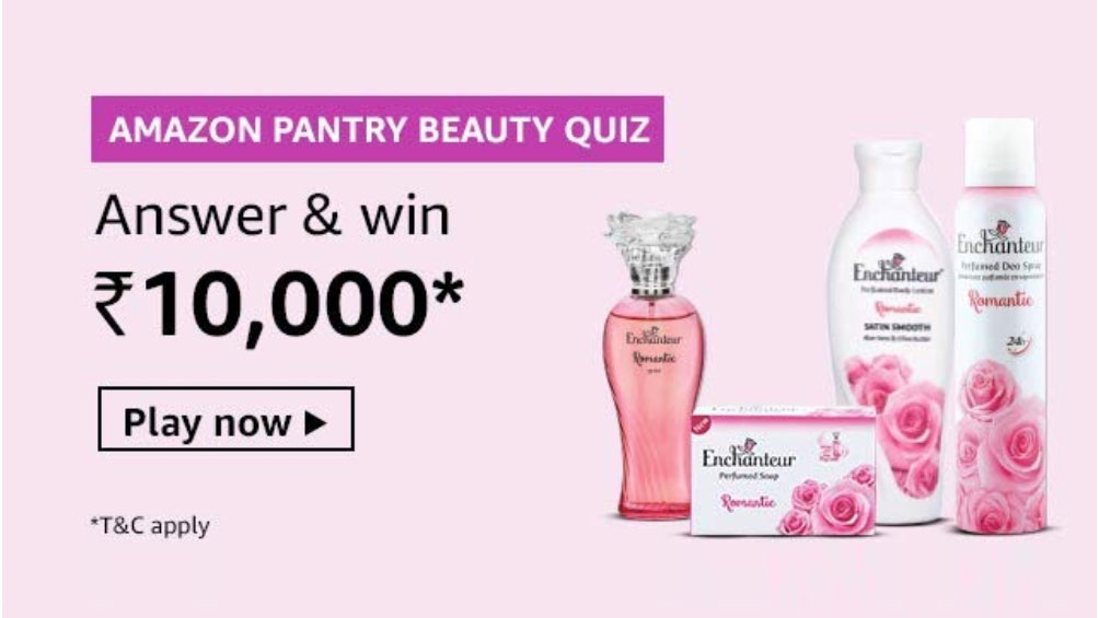 Amazon Pantry Beauty Quiz Answers - Win Rs.10,000