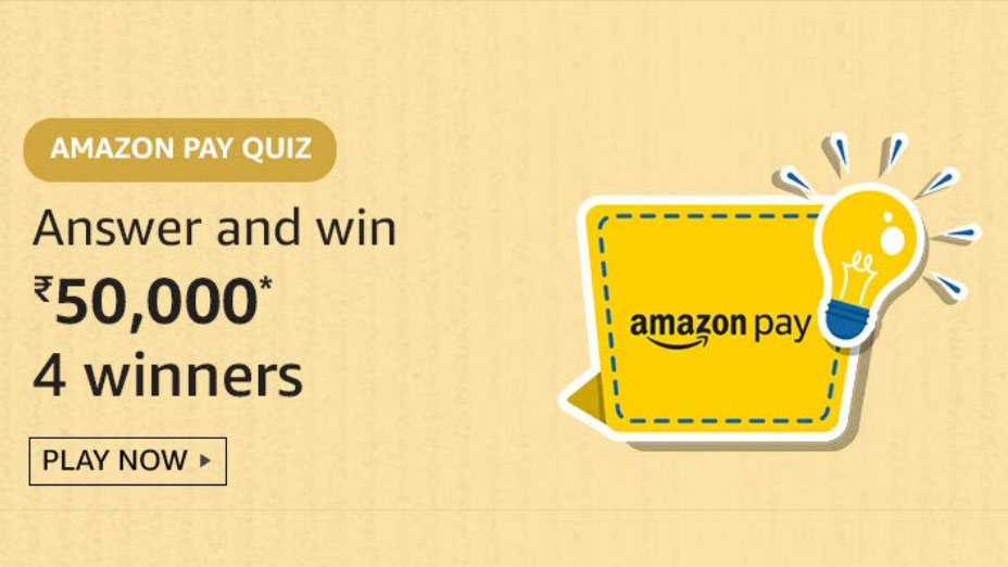 Amazon Pay Quiz Answers - Win Rs.50,000
