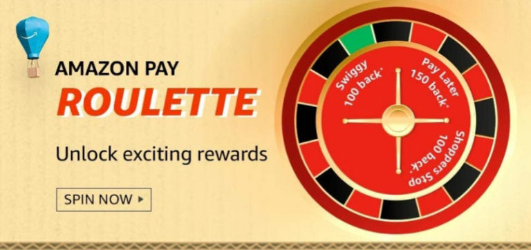 Amazon Pay Roulette Spin And Win - Unlock Rewards Up To Rs.1,000