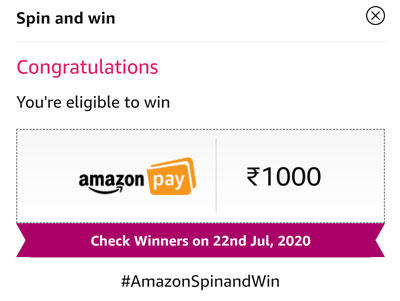 Check out your eligibility to win the Amazon Pay balance or Unlocked UPI Offers