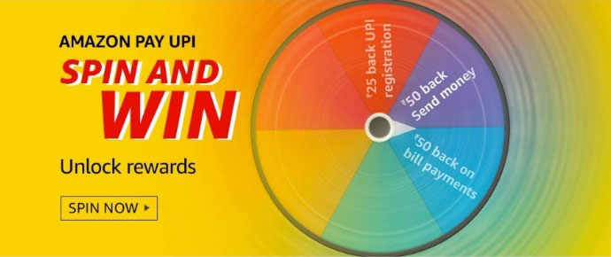 Amazon Pay UPI Spin And Win - Unlock Rewards Up To Rs.1,000