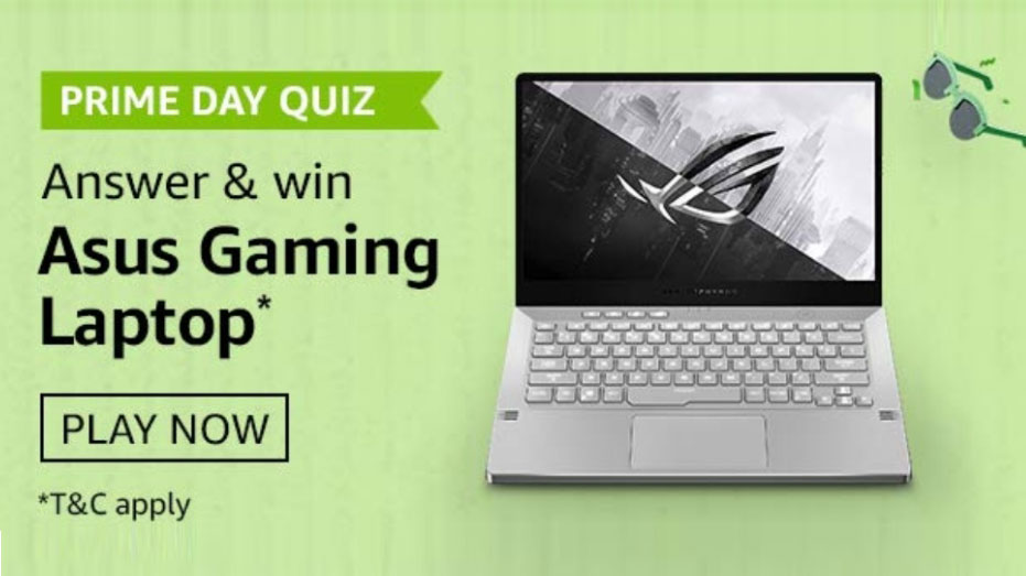 Amazon Prime Day Quiz Answers - Win Asus Gaming Laptop
