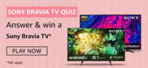 Amazon Sony Bravia TV Quiz Answers - Win Bravia TV