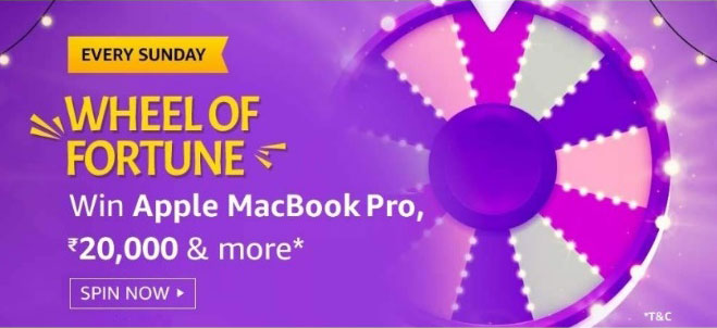 Amazon Wheel Of Fortune Spin And Win - MacBook Pro