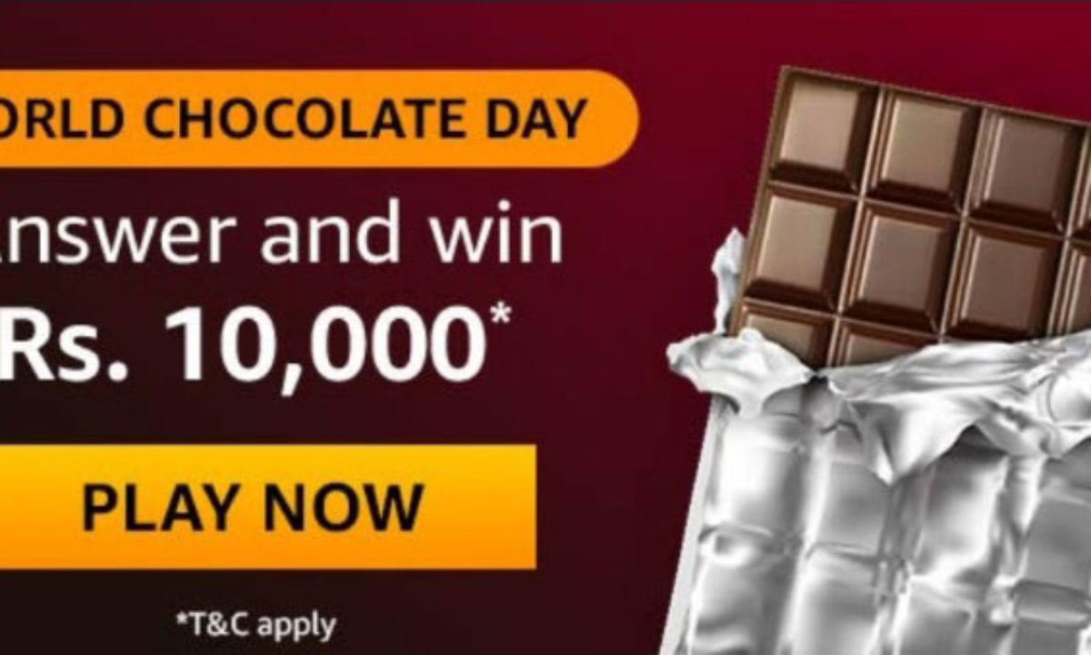 Amazon World Chocolate Day Quiz Answers Win Rs 10 000 Till 14 July 2020