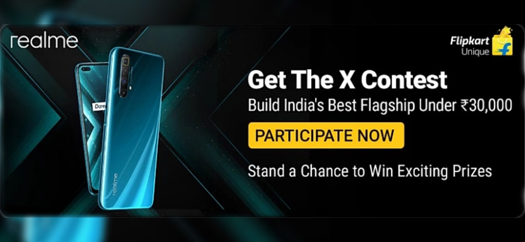 Flipkart Get The X Contest Answers - Get A Chance To Win Realme X3 Or X3 SuperZoom