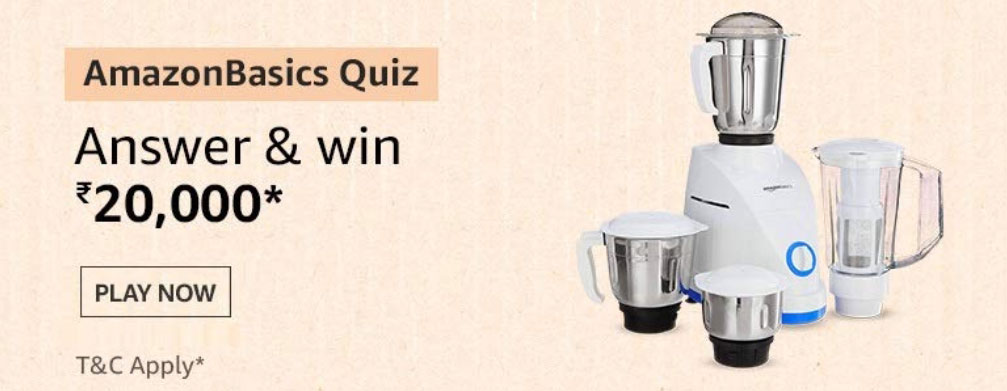 The AmazonBasics Quiz Answers - Win Rs.20,000