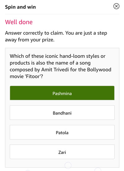 Tap on the correct answer - Amit Trivedi's song in Fitoor is Pashmina