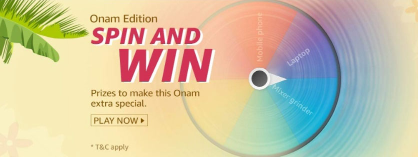 Amazon Spin And Win Onam Edition