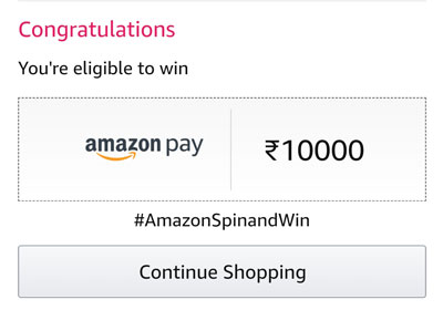Confirmation 0f your chance to win Rs.10,000 or other.