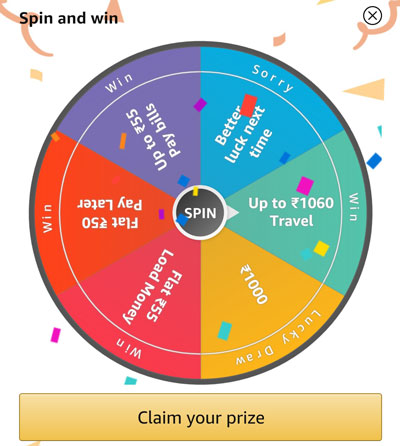 Spin the wheel and Claim your Travel Offer or others.