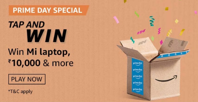Amazon Prime Day Special Tap And Win - Mi Laptop