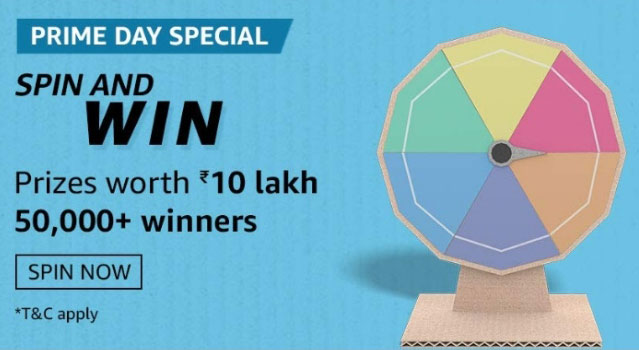 Amazon Prime Day Special Spin And Win - iPhone 11 Pro Max