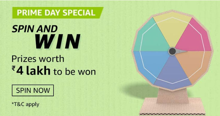 Amazon Prime Day Special Spin And Win - Win Up To Rs.40,000