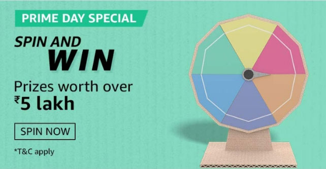 Amazon Prime Day Special Spin And Win - Apple MacBook Pro