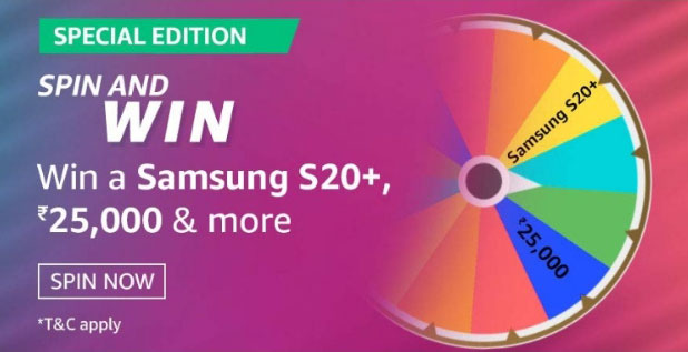 Spin And Win Samsung S20+ | Amazon Special Edition