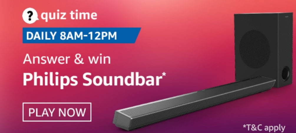 Amazon Quiz Answers – Win Philips Soundbar