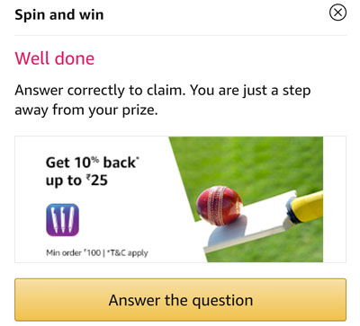 Answer a question and claim your 11Wickets Offer Coupons or others.