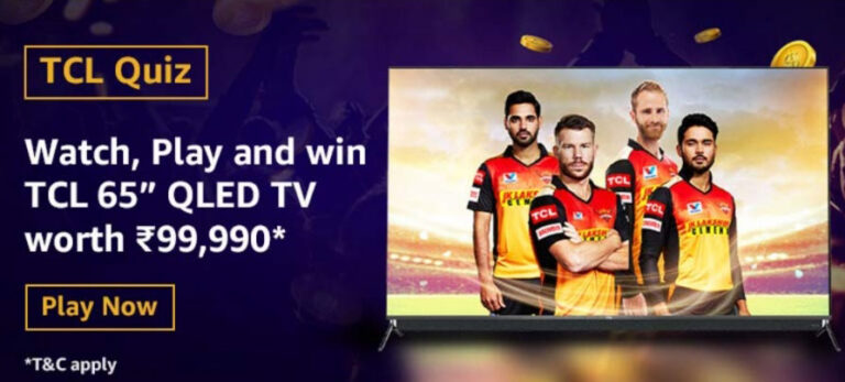 """Amazon TCL QLED Quiz Answers - Win TCL 65"""" QLED TV"""